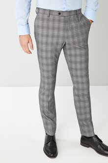 Next Skinny Fit Check Suit: Trousers - 226729