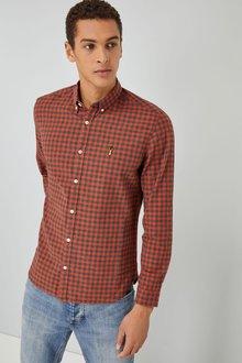 Next Gingham Check Long Sleeve Shirt