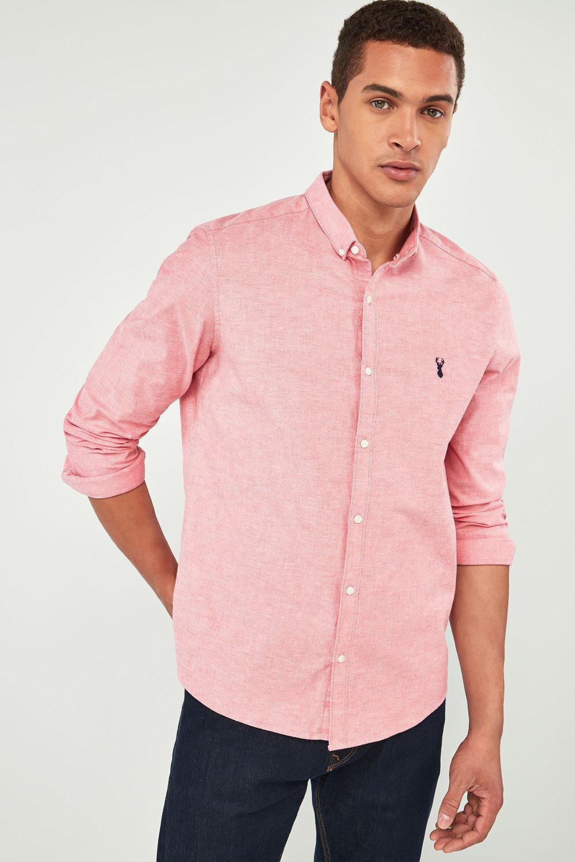 386dac81d0 Next Slim Fit Long Sleeve Stretch Oxford Shirt Online   Shop EziBuy