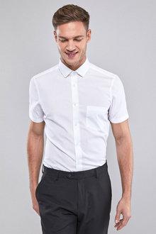 Next Cotton Shirt-Slim Fit Short Sleeve - 226815