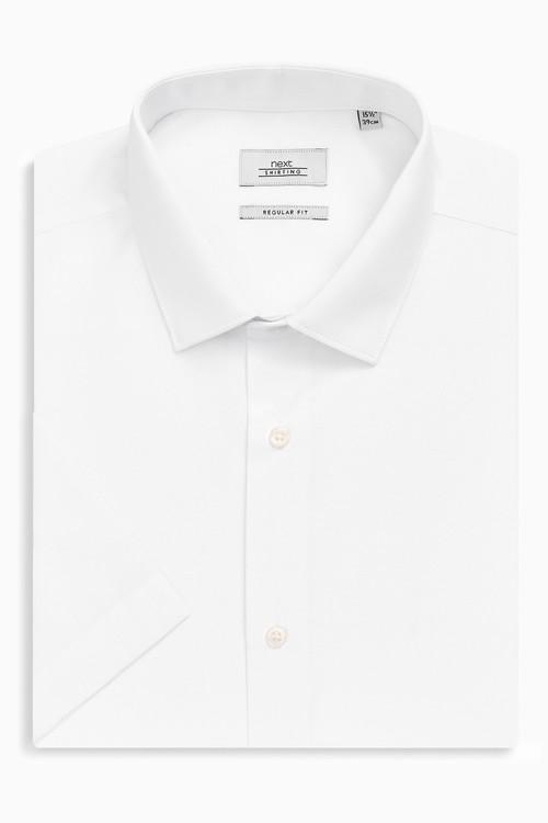 Next Easy Care Short Sleeve Shirt-Slim Fit Short Sleeve