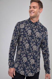 Next Long Sleeve Paisley Print Shirt