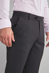 Next Machine Washable Plain Front Trousers-Slim Fit
