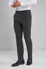 Next Machine Washable Plain Front Trousers-Tailored Fit