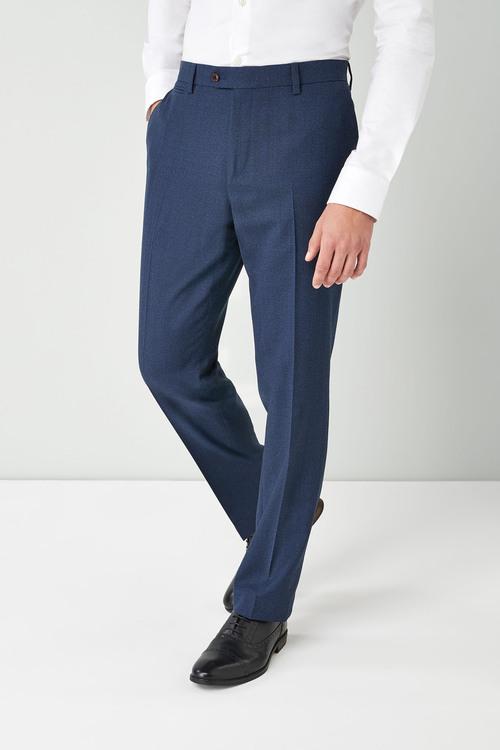 Next Textured Wool Blend Suit: Trousers-Regular Fit