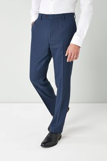Next Textured Wool Blend Suit: Trousers-Regular Fit