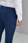 Next Machine Washable Plain Front Trousers-Regular Fit