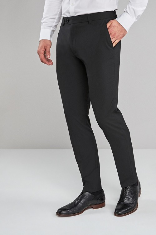 Next Stretch Plain Front Trousers-Skinny Fit