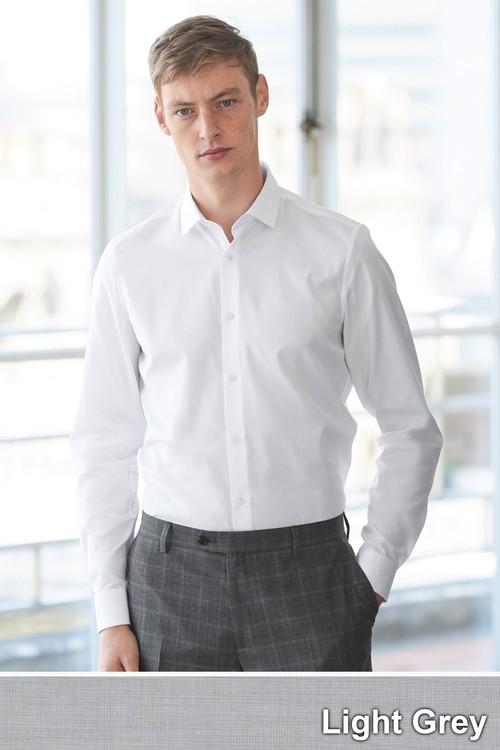 Next Cotton Shirt-Slim Fit Double Cuff
