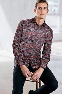 Next Regular Fit Paisley Print Shirt