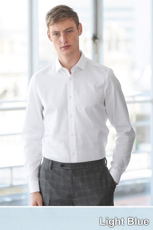 Next Cotton Shirt-Regular Fit Single Cuff