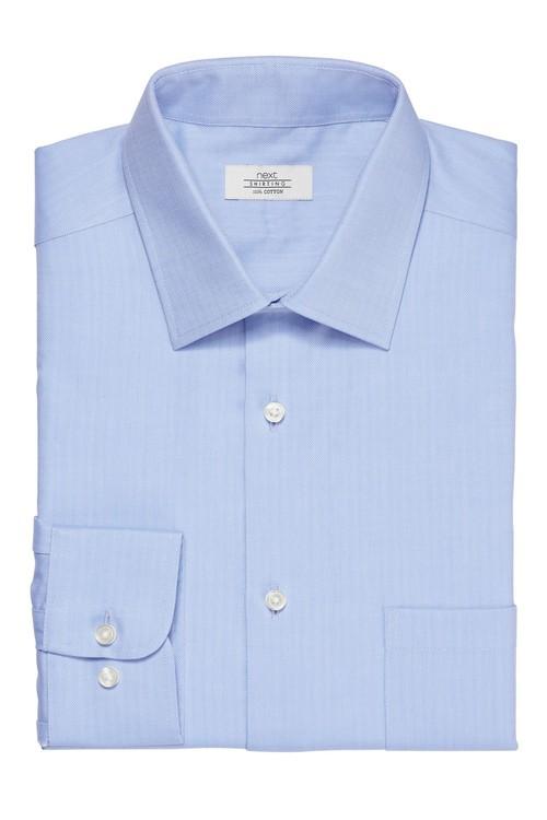 Next Non-Iron Shirt-Slim Fit Double Cuff