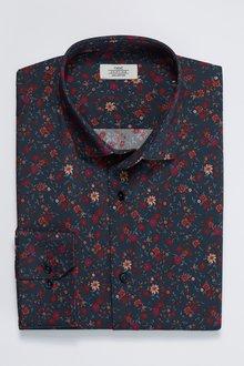 Next Floral Slim Fit Shirt