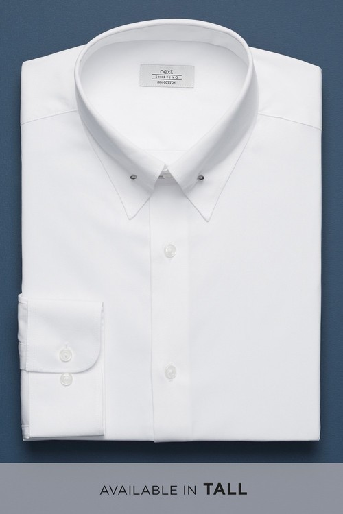 Next Collar Pin Easy Care Slim Fit Shirt