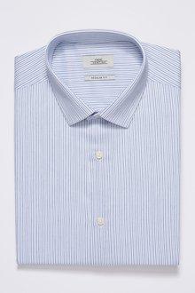 Next Stripe Short Sleeve Regular Fit Shirt With Pocket Square