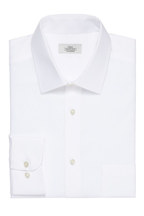 Next Non-Iron Shirt-Regular Fit Double Cuff