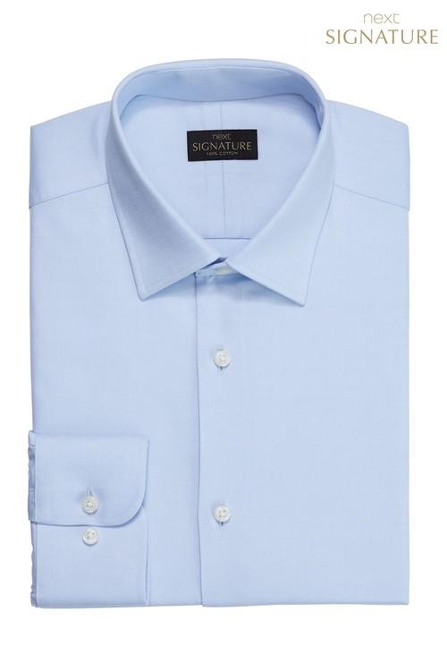 Next Signature Textured Shirt-Regular Fit Double Cuff