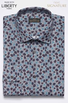 Next Liberty Fabrics Bramble Blossom Slim Fit Shirt