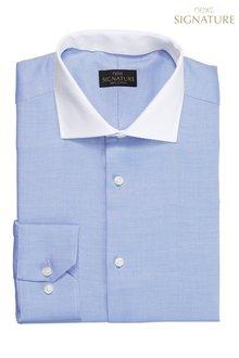 Next Contrast Collar Signature Regular Fit Shirt