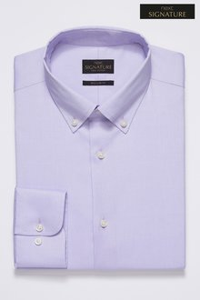 Next Signature Egyptian Cotton Stretch Button Down Shirt