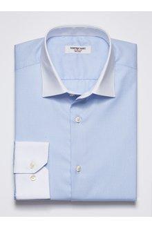 Next Textured Collar Shirt