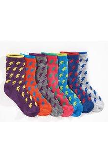 Next Lightening Bolt Socks Seven Pack (Older)
