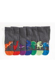 Next Dinosaur Socks Seven Pack (Older)