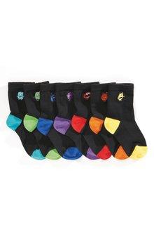 Next Monster Embroidery Socks Seven Pack (Older)