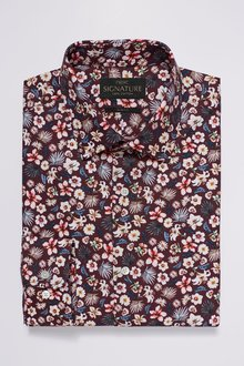 Next Signature Texta Fabric Floral Printed Slim Fit Shirt