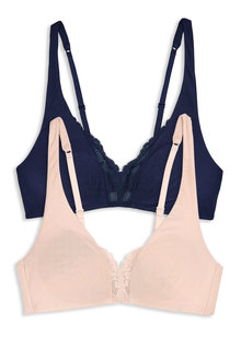 Next Daisy Non Padded Non Wired Modal Bralettes Two Pack
