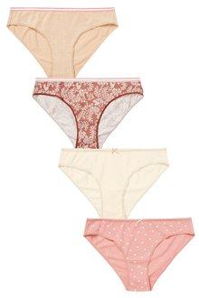 Next Cotton Knickers Four Pack-Bikini