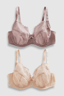 Next Lizzie DD+ Non Padded Embroidered Balcony Bras Two Pack