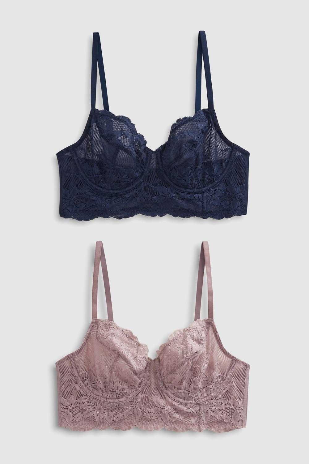 c22312bb16852 Next Georgie Non Padded Lace Full Cup Bras Two Pack Online