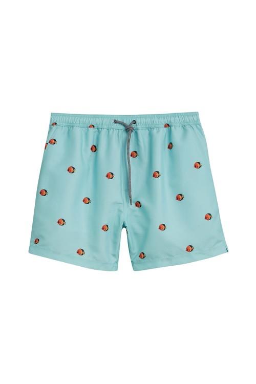 Next Fish Print Swim Shorts