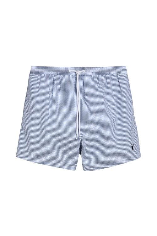 Next Seersucker Stripe Swim Shorts