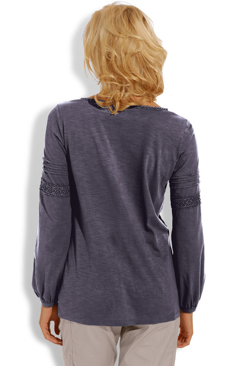 Heine Crochet Lace Detail Top