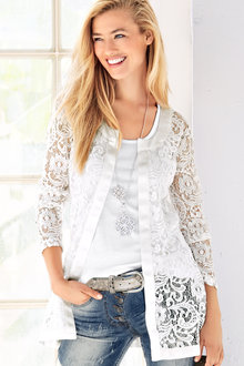 Heine Lace Long Cardigan