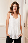 European Collection Crinkle Lace Tank
