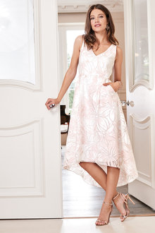 European Collection Burnout Print Dress - 227153