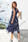 European Collection Ruffle Sleeve Print Dress