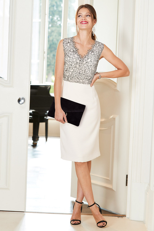European Collection Lace Detail Dress