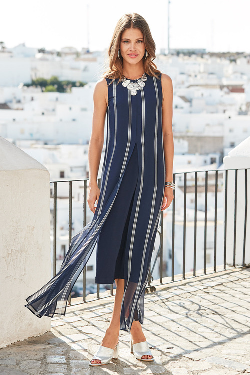 European Collection Split Front Dress