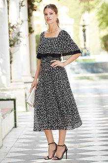 European Collection Animal Print Dress