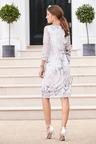 European Collection Mesh Print Dress