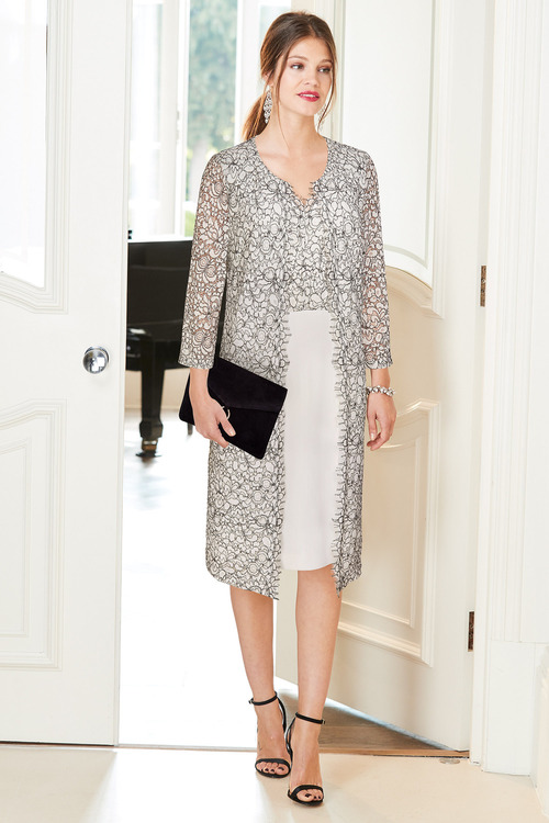 European Collection Longline Lace Jacket