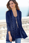 European Collection Lace Detail Cardigan