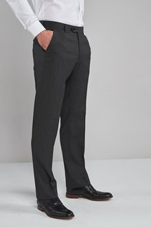 Next Stretch Plain Front Trousers-Regular Fit