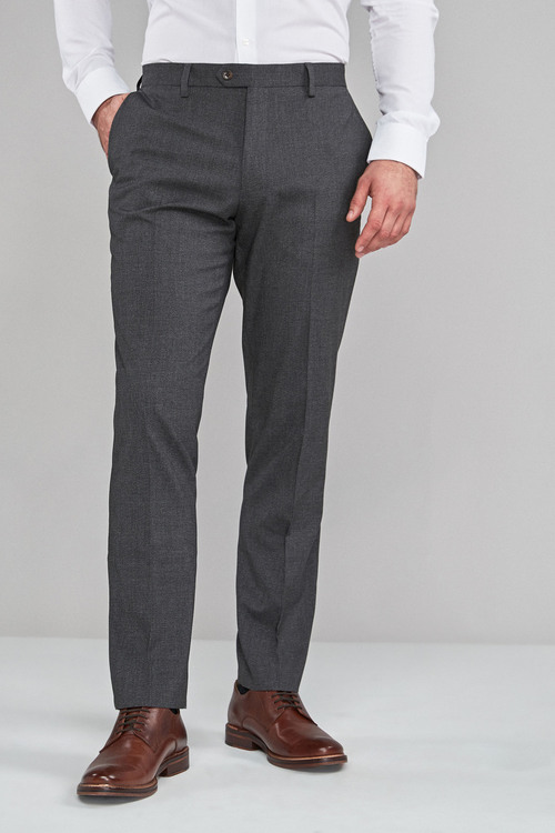 Next Textured Trousers-Regular Fit