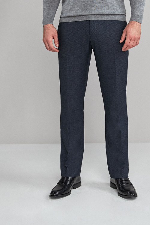 Next Puppytooth Jean Style Trousers-Regular Fit