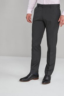 Next Stretch Plain Front Trousers-Slim Fit